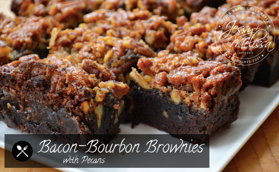 Bacon-Bourbon Brownies with Pecans | Jessy + Melissa