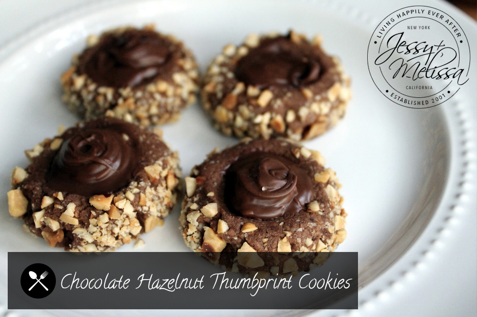 chocolate hazelnut thumbprint cookies jessy dec 7 2013 cookies holiday ...