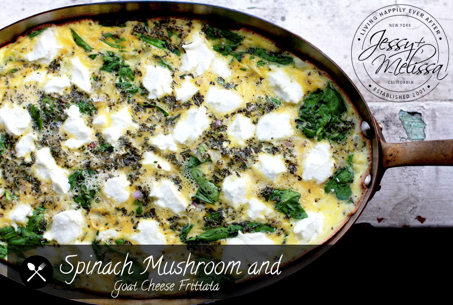 Spinach Mushroom and Goat Cheese Frittata | Jessy + Melissa
